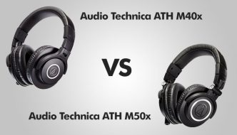 Audio Technica ATH M40x vs ATH M50x