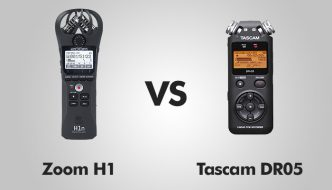 Zoom H1 vs Tascam DR05